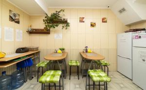 Ballet Hostel tesisinde mutfak veya mini mutfak