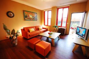A seating area at March 3 B&B Yilan
