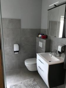 A bathroom at Bed & Breakfast Pension Legden