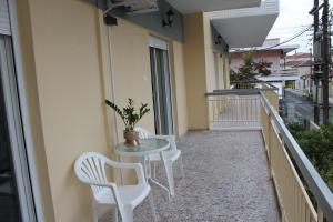 A balcony or terrace at Dimitriadis Hotel