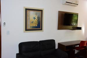 A seating area at Hotel Cosini