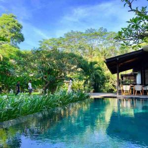 The swimming pool at or near Surya Kembar Villas