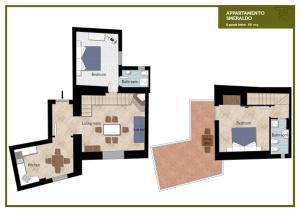 The floor plan of Lemon Flats Sorrento