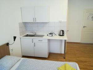 Η κουζίνα ή μικρή κουζίνα στο Capital Guesthouse Budapest