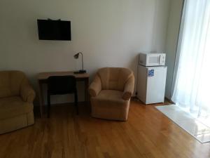 Χώρος καθιστικού στο Capital Guesthouse Budapest