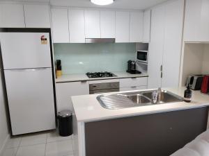 A kitchen or kitchenette at Cozyapt 108 Albert St