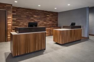 The lobby or reception area at Courtyard by Marriott Pullman