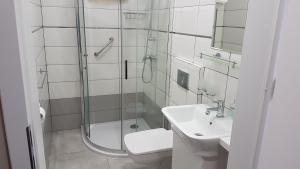 Łazienka w obiekcie Hotel Gutland
