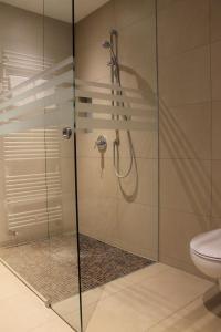 Koupelna v ubytování Hotel Salinensee