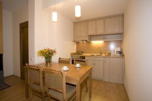 A kitchen or kitchenette at Residence Hotel Malina