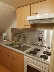 Küche/Küchenzeile in der Unterkunft Villa Donkey Ferienwohnung