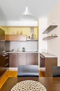 Küche/Küchenzeile in der Unterkunft Apartment Prague Angel