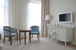 Telewizja i/lub zestaw kina domowego w obiekcie Hotel Herman