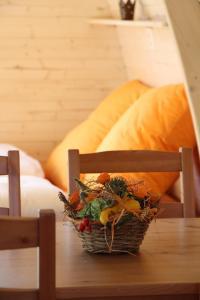 Ein Sitzbereich in der Unterkunft B&B Hofgenuss