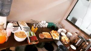Breakfast options available to guests at Hotel Antartida Argentina