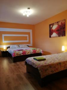 Cama o camas de una habitación en JugendStube Hostel
