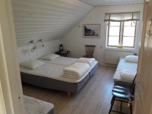 Säng eller sängar i ett rum på STF Möja Vandrarhem