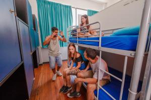 A family staying at Bunk Brisbane