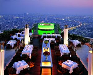 A restaurant or other place to eat at lebua at State Tower (The World's First Vertical Destination)