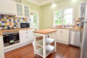 A kitchen or kitchenette at Bunya Creek Farm Stay