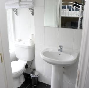 A bathroom at The Sliding Rock Inn