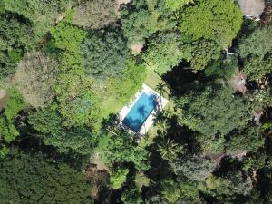 Letecký snímek ubytování Dambulu Oya Family Park