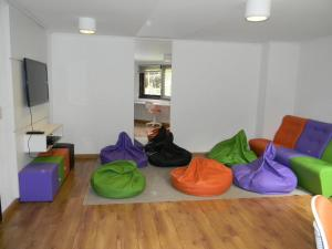 A seating area at Apartamento Resort Knorr Ville