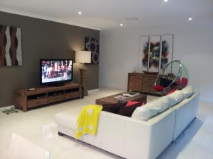A television and/or entertainment center at Our Byron House