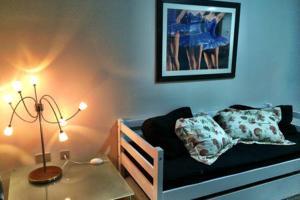 A bed or beds in a room at Apto mobiliado c/ ótima localização