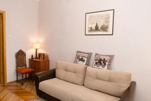 Гостиная зона в Apartment on Ligovsky prospekt near Obvodny kanal