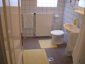 A bathroom at Mátyás Vendégház Parádfürdő