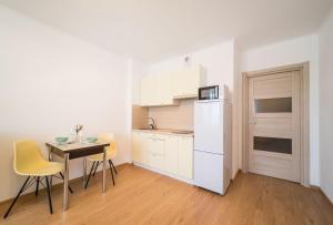Кухня или мини-кухня в Pasha's apartments