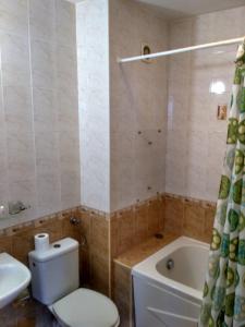 A bathroom at Philippopolis Hotel
