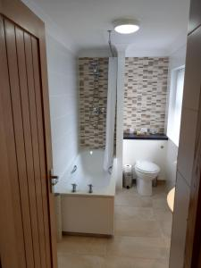A bathroom at The Royal Hotel