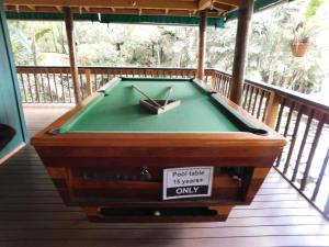 A pool table at Colo-I-Suva Rainforest Eco Resort