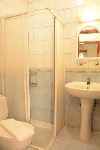 Een badkamer bij Villa Nergis