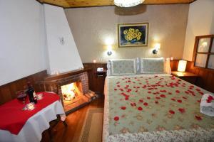 Cama ou camas em um quarto em Hotel Pião Mineiro