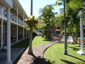 A garden outside Aston Motel Yamba