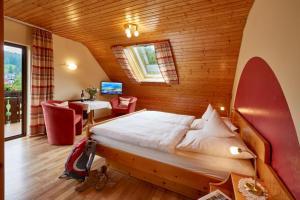 Ein Bett oder Betten in einem Zimmer der Unterkunft Haus am Kaltenbach