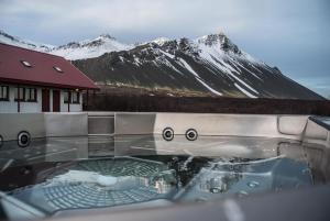 Hotel Hafnarfjall durante o inverno