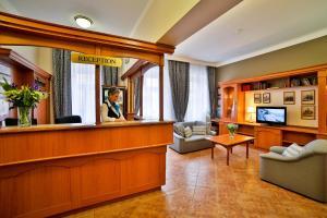 The lobby or reception area at Marketa