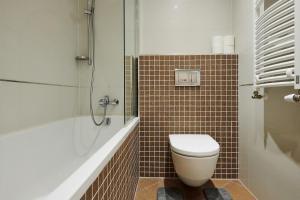 Koupelna v ubytování Garden Towers Apartments