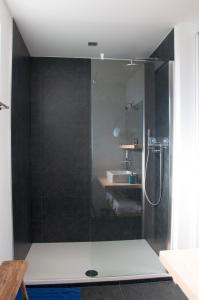 Salle de bains dans l'établissement B&B Aquavit