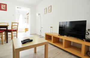 A television and/or entertainment center at Apartment Mir