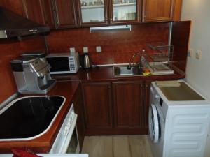 Кухня или кухненски бокс в Aleksandrovska Burgas Apartment