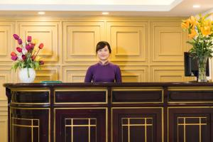 The lobby or reception area at Thien Phu Hotel