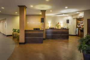 The lobby or reception area at DoubleTree by Hilton Hotel Raleigh - Brownstone - University