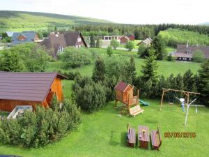 Blick auf Pension Věra aus der Vogelperspektive