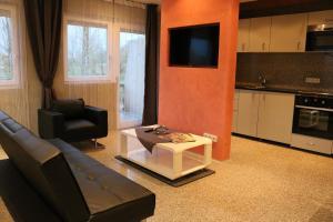 Ein Sitzbereich in der Unterkunft Gestüt Kaiserhof