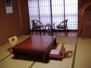 A seating area at Ishibu-so